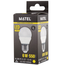 BOMB.LED ESFE. E27 6 W CALIDA